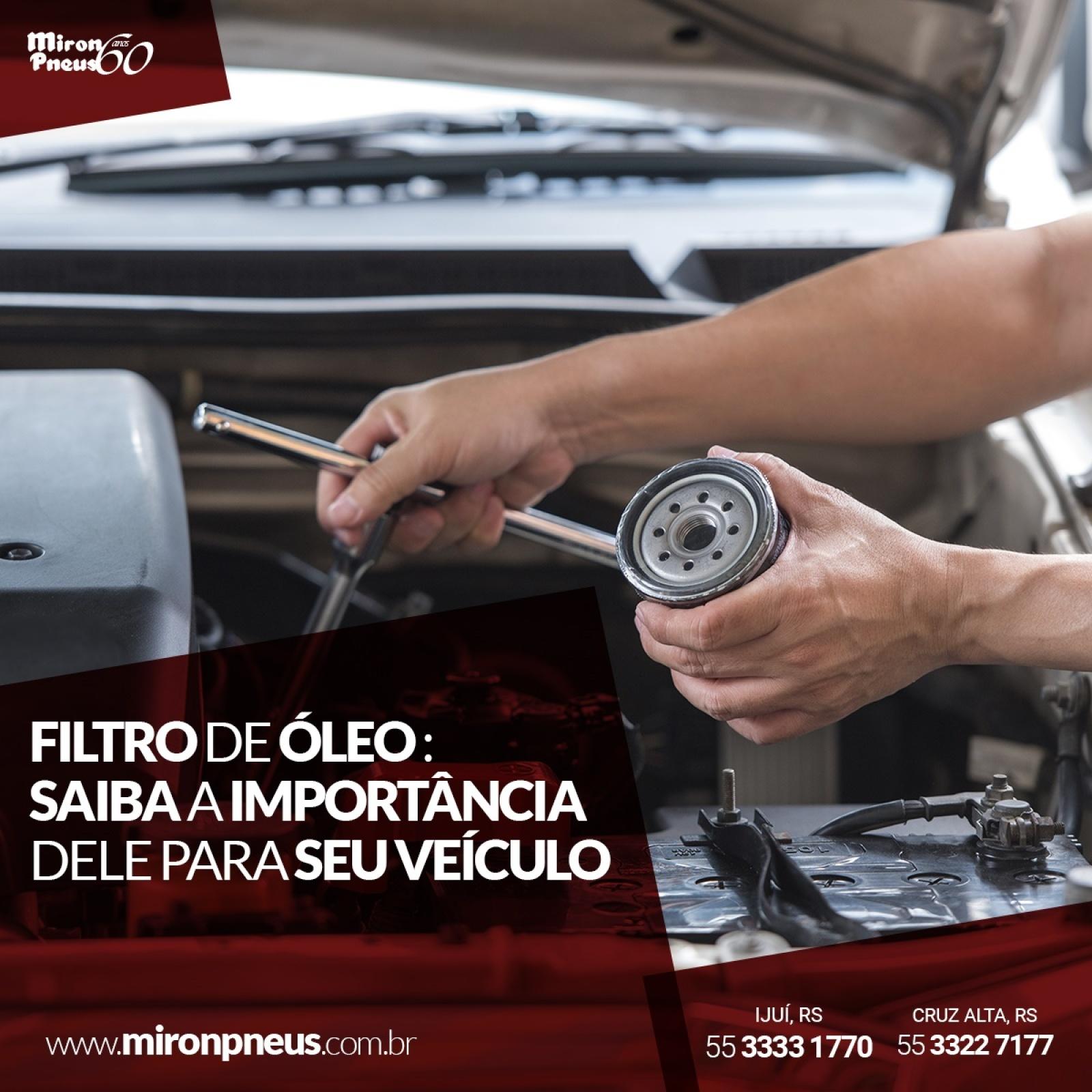 Filtro de óleo – saiba a importância dele para seu veículo