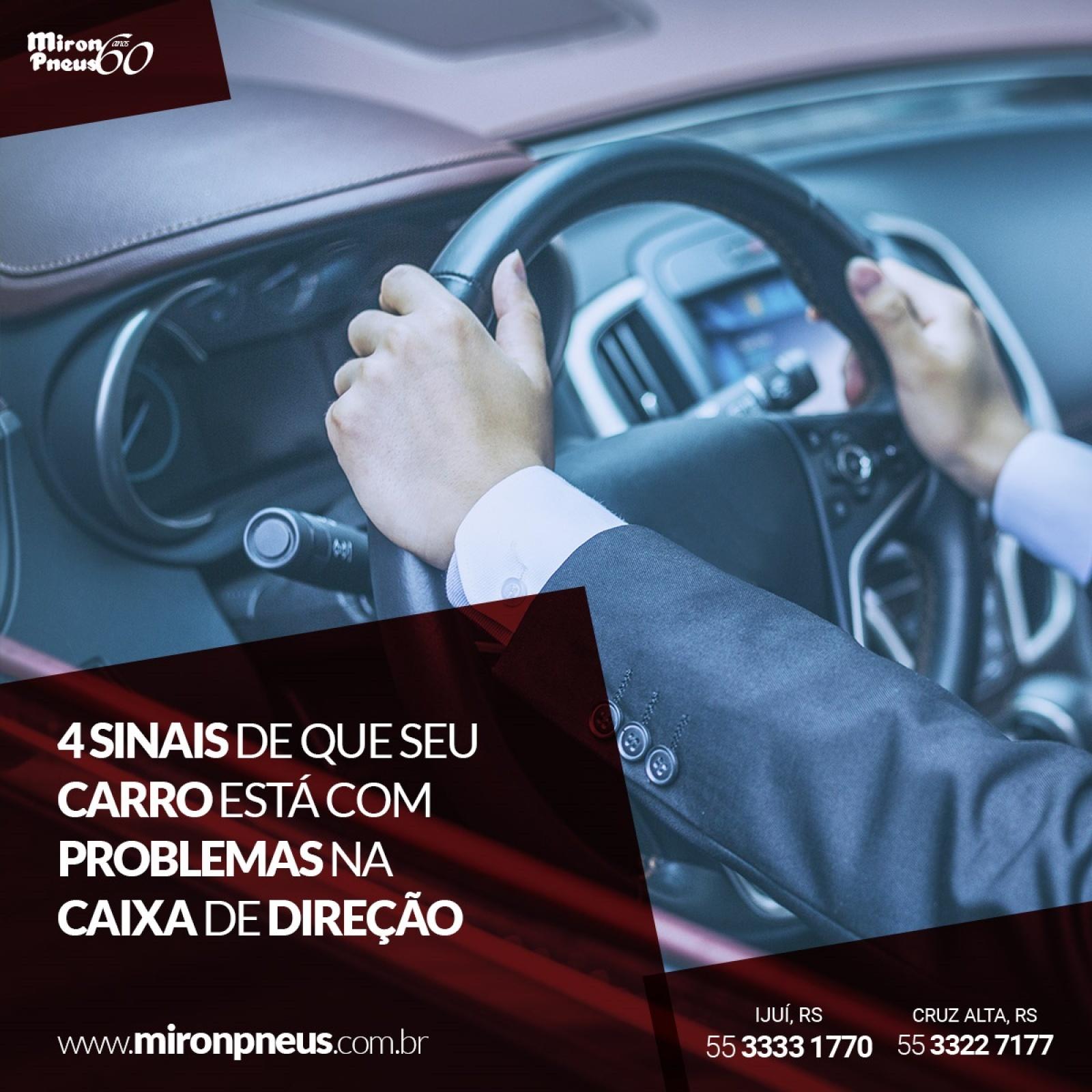4 sinais de que seu carro está com problema na caixa de direção