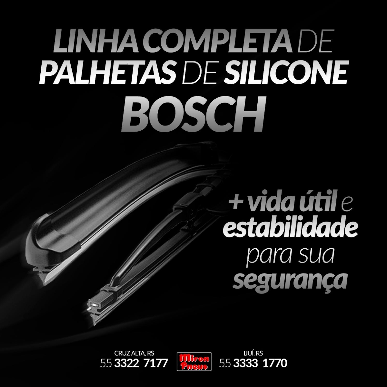 Linha completa de Palhetas de Silicone Bosch